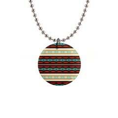 Stripes And Rhombus Chains                                      			1  Button Necklace by LalyLauraFLM