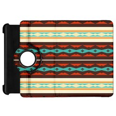 Stripes And Rhombus Chains                                      			kindle Fire Hd Flip 360 Case by LalyLauraFLM