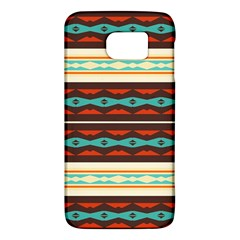 Stripes And Rhombus Chains                                      samsung Galaxy S6 Hardshell Case by LalyLauraFLM