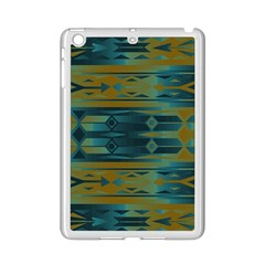 Blue Green Gradient Shapes                                       apple Ipad Mini 2 Case (white) by LalyLauraFLM