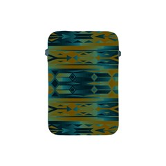 Blue Green Gradient Shapes                                       			apple Ipad Mini Protective Soft Case by LalyLauraFLM