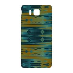 Blue Green Gradient Shapes                                       samsung Galaxy Alpha Hardshell Back Case by LalyLauraFLM