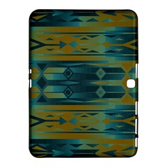 Blue Green Gradient Shapes                                       			samsung Galaxy Tab 4 (10 1 ) Hardshell Case by LalyLauraFLM