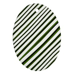 Diagonal Stripes Oval Ornament (two Sides) by dflcprints