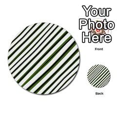Diagonal Stripes Multi Purpose Cards (round)  by dflcprints