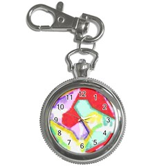 Watercolors Shapes                                         key Chain Watch by LalyLauraFLM