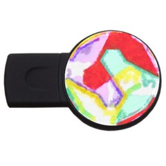 Watercolors Shapes                                         			usb Flash Drive Round (2 Gb) by LalyLauraFLM