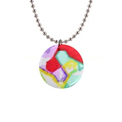 Watercolors Shapes                                         1  Button Necklace by LalyLauraFLM