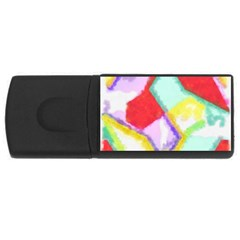 Watercolors Shapes                                         			usb Flash Drive Rectangular (4 Gb) by LalyLauraFLM