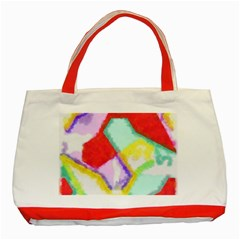 Watercolors Shapes                                         classic Tote Bag (red) by LalyLauraFLM