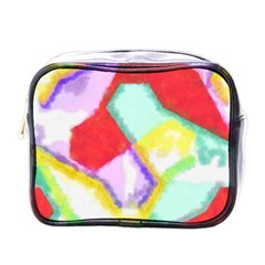 Watercolors Shapes                                         mini Toiletries Bag (one Side) by LalyLauraFLM