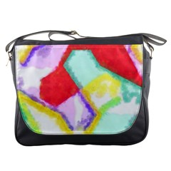 Watercolors Shapes                                         			messenger Bag by LalyLauraFLM