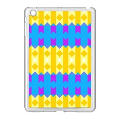 Rhombus And Other Shapes Pattern                                          apple Ipad Mini Case (white) by LalyLauraFLM