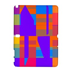 Misc colorful shapes                                           Samsung Galaxy Note 10.1 (P600) Hardshell Case by LalyLauraFLM