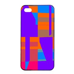 Misc Colorful Shapes                                           			apple Iphone 4/4s Seamless Case (black) by LalyLauraFLM