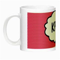 Comic Book Think Kpop Pink Night Luminous Mugs by ComicBookPOP