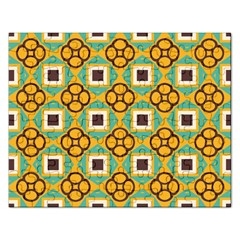 Flowers And Squares Pattern                                            jigsaw Puzzle (rectangular) by LalyLauraFLM