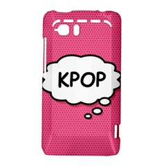 Comic Book Think Kpop Pink HTC Vivid / Raider 4G Hardshell Case  by ComicBookPOP