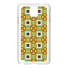 Flowers And Squares Pattern                                            			samsung Galaxy Note 3 N9005 Case (white) by LalyLauraFLM