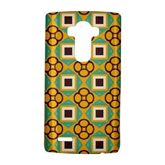 Flowers And Squares Pattern                                            lg G4 Hardshell Case by LalyLauraFLM