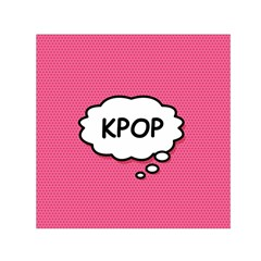 Comic Book Think Kpop Pink Small Satin Scarf (Square) by ComicBookPOP