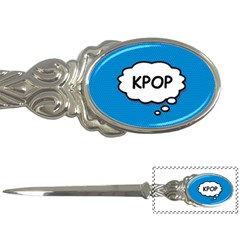 Comic Book Kpop Blue Letter Openers by ComicBookPOP