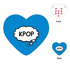 Comic Book Kpop Blue Playing Cards (heart)  by ComicBookPOP