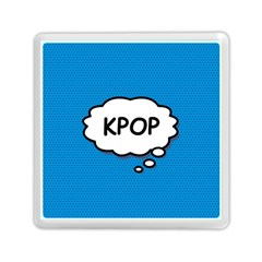 Comic Book Kpop Blue Memory Card Reader (square)  by ComicBookPOP