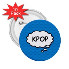 Comic Book Kpop Blue 2 25  Buttons (10 Pack)  by ComicBookPOP