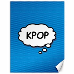 Comic Book Kpop Blue Canvas 36  x 48   by ComicBookPOP