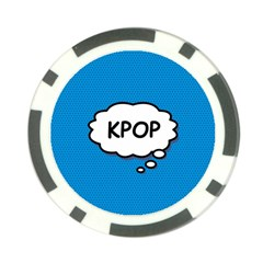 Comic Book Kpop Blue Poker Chip Card Guards (10 pack)  by ComicBookPOP