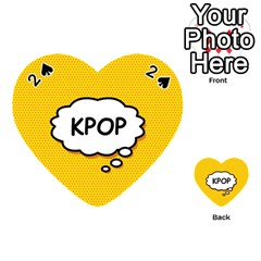 Comic Book Kpop Orange Playing Cards 54 (Heart)  by ComicBookPOP