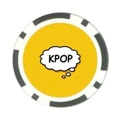 Comic Book Kpop Orange Poker Chip Card Guards (10 Pack)  by ComicBookPOP