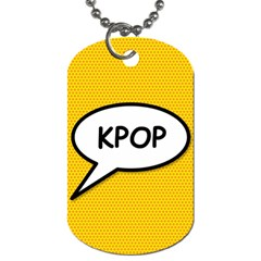 Comic Book Shout Kpop Orange Dog Tag (two Sides) by ComicBookPOP