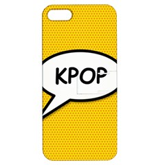 Comic Book Shout Kpop Orange Apple Iphone 5 Hardshell Case With Stand by ComicBookPOP