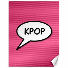 Comic Book Shout Kpop Pink Canvas 12  x 16   by ComicBookPOP