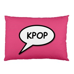 Comic Book Shout Kpop Pink Pillow Case by ComicBookPOP
