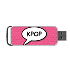 Comic Book Shout Kpop Pink Portable Usb Flash (two Sides) by ComicBookPOP