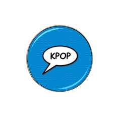 Comic Book Shout Kpop (Blue) Hat Clip Ball Marker by ComicBookPOP