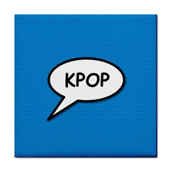 Comic Book Shout Kpop (blue) Face Towel by ComicBookPOP