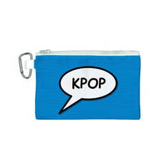 Comic Book Shout Kpop (blue) Canvas Cosmetic Bag (s) by ComicBookPOP