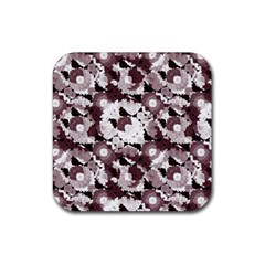 Ornate Modern Floral Rubber Square Coaster (4 Pack)  by dflcprints