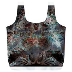 Metallic Copper Patina Urban Grunge Texture Full Print Recycle Bag (xl) by CrypticFragmentsDesign