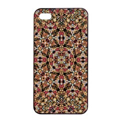 Boho Chic Apple Iphone 4/4s Seamless Case (black) by dflcprints