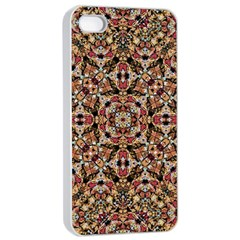 Boho Chic Apple Iphone 4/4s Seamless Case (white) by dflcprints
