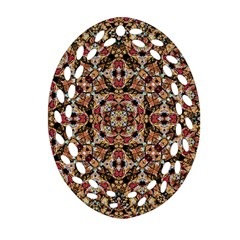 Boho Chic Oval Filigree Ornament (2 Side)  by dflcprints