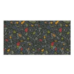 Abstract Reg Satin Shawl