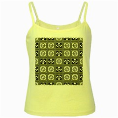 Black And White Yellow Spaghetti Tank by FunkyPatterns