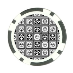 Black And White Poker Chip Card Guards by FunkyPatterns