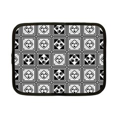 Black And White Netbook Case (small)  by FunkyPatterns